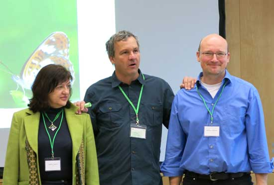 Photo of the project management, from left: Katalin Czippan, Christian Stettmer and Wolfram Adelmann.