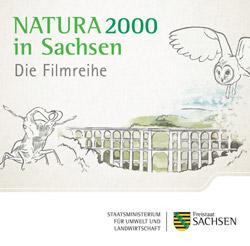 """Gezeichnetes Logo zu """"Natura 2000 in Sachsen – Die Filmreihe."""