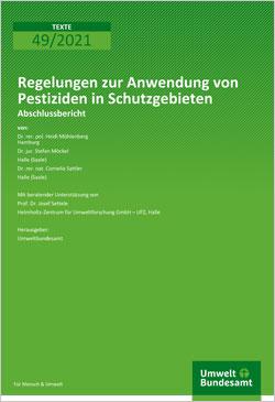 Titelblatt zum Abschlussbericht Regelungen zur Anwendung von Pestiziden in Schutzgebieten.