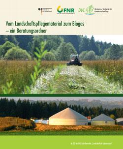 Titelbild des Buches mit einer Biogasanlage.