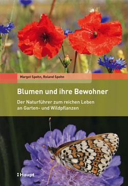 Titelbild des Buches mit oben einer Mohnblüte und unten einem Schmetterling auf einer Skabiose.