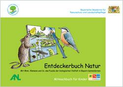 Titelbild der Broschüre mit einer Zeichnung einer Maus und einem Kleiber, die sich an ein Puzzleteil lehnen.