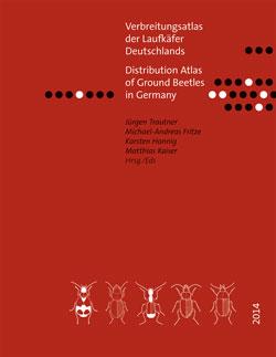 Titelbild des Buches mit gezeichneten Laufkäfern, Hintergrund braun.