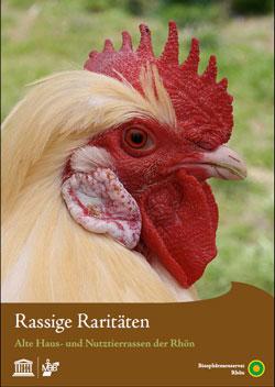 Titelbild der Broschüre mit dem Kopf eines Hahns.