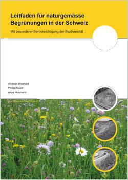 Titelbild der Broschüre mit einem großen Wiesenbild und einzelnen Kleinbildern.