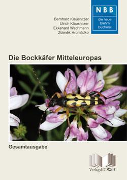 Titelbild des Buches mit dem Foto des gefleckten Schmalbocks, der auf dem Blütenstand einer Bunten Kronwicke sitzt.