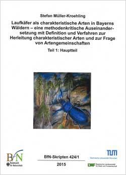 Titelbild des Buches mit dem gemalten Bild eines blauen Laufkäfers.