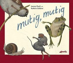 Gemaltes Titelbild vom Buch, auf dem verschiedene Tiere in Aktion zu sehen sind.