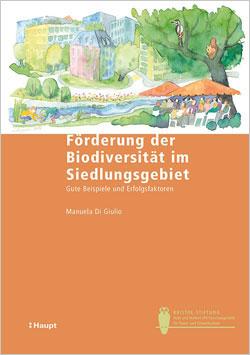 : Titelbild des Buches mit bunter Zeichnung einer begrünten Stadt mit spielenden Kindern am Bach und vielen Leuten, die unter einem Baum zusammensitzen.