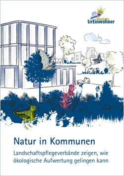Titelbild der Broschüre mit einem farbig skizzierten Bürogebäude mit bepflanztem Vordergrund, im Hintergrund Häuser mit Grünanlage.