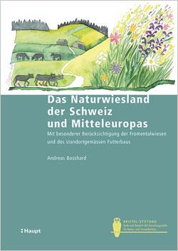 Titelbild des Buches mit bunter Zeichnung einer Landschaft mit Wiesen, Kühen, Wegen und Wäldern.