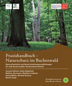Das Titelbild zeigt einen strukturreichen Buchenwald mit großen Buchen und viel Totholz.