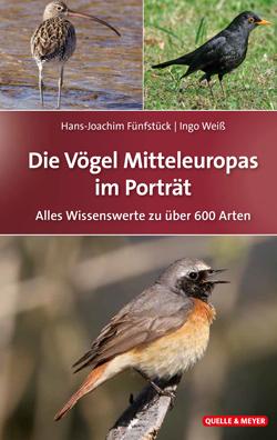 : Das Titelbild zeigt drei verschiedene Vögel in ihren Lebensräumen.