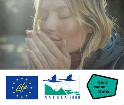 Das Bild zeigt einen Ausschnitt aus dem Film, bei dem eine blonde Frau im Sonnenlicht sitzt, tief einatmet und die Natur genießt.