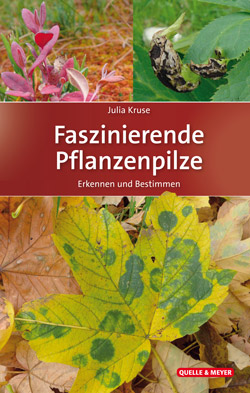 Das Titelbild zeigt Fotos von mit Pilzen befallenen Pflanzen und Blättern.
