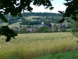 Blick auf Uetzing in der Nördlichen Frankenalb.