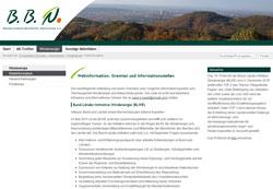 Blick auf ein Online-Informationsangebot der Forum-Seite.