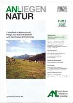 cover Anliegen Natur 31, issu 1